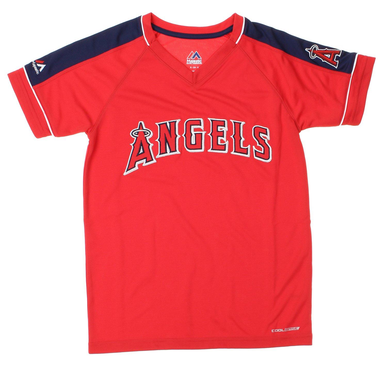 404b6af76 Amazon.com   Majestic MLB Los Angeles Angels of Anaheim Big Boys Youth Lead  Hitter Performance Shirt
