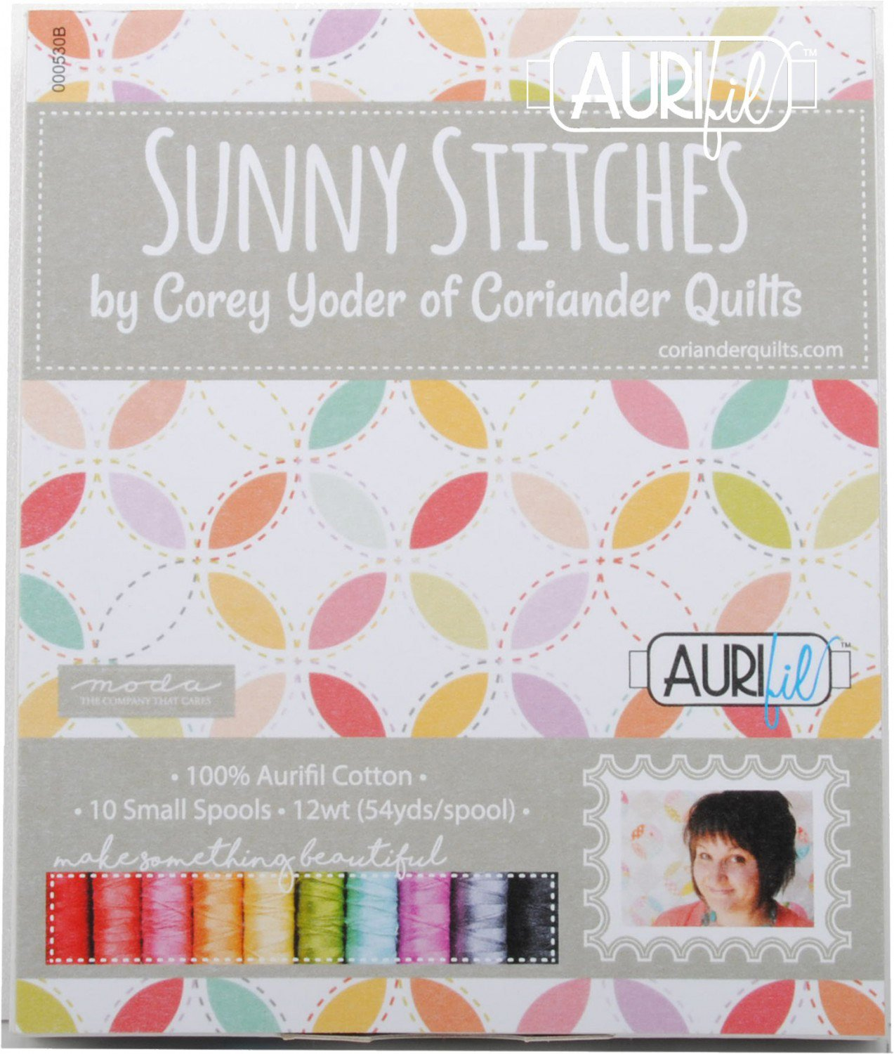 Corey Yoder Sunny Stitches Aurifil Thread Kit 10 Small Spools 12 Weight CY12SS10 by Aurifil