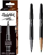 BIC BodyMark Temporary Tattoo Marker with Brush Tip, Henna Vibes, Black
