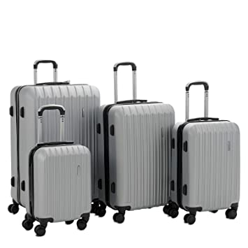 f701aad6a145 Murtisol 4 Pieces ABS Luggage Sets Hardside Spinner Lightweight Durable  Spinner Suitcase 16