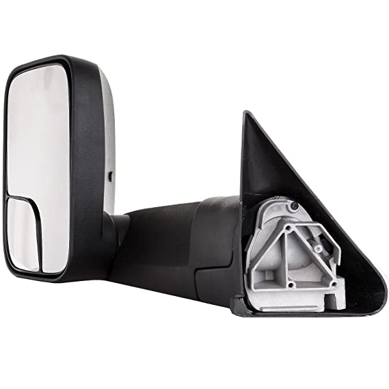 Passengers Manual Side Tow Mirror 7x10 Flip-Up with Mounting Bracket Replacement for Dodge Pickup Truck 55156334AD
