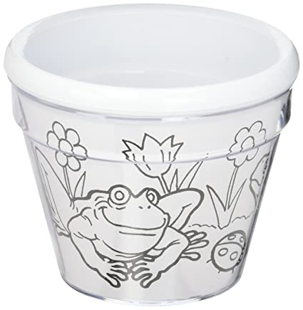 Amazon Com Bulk Buy Darice Crafts For Kids Design A Flower Pot 6
