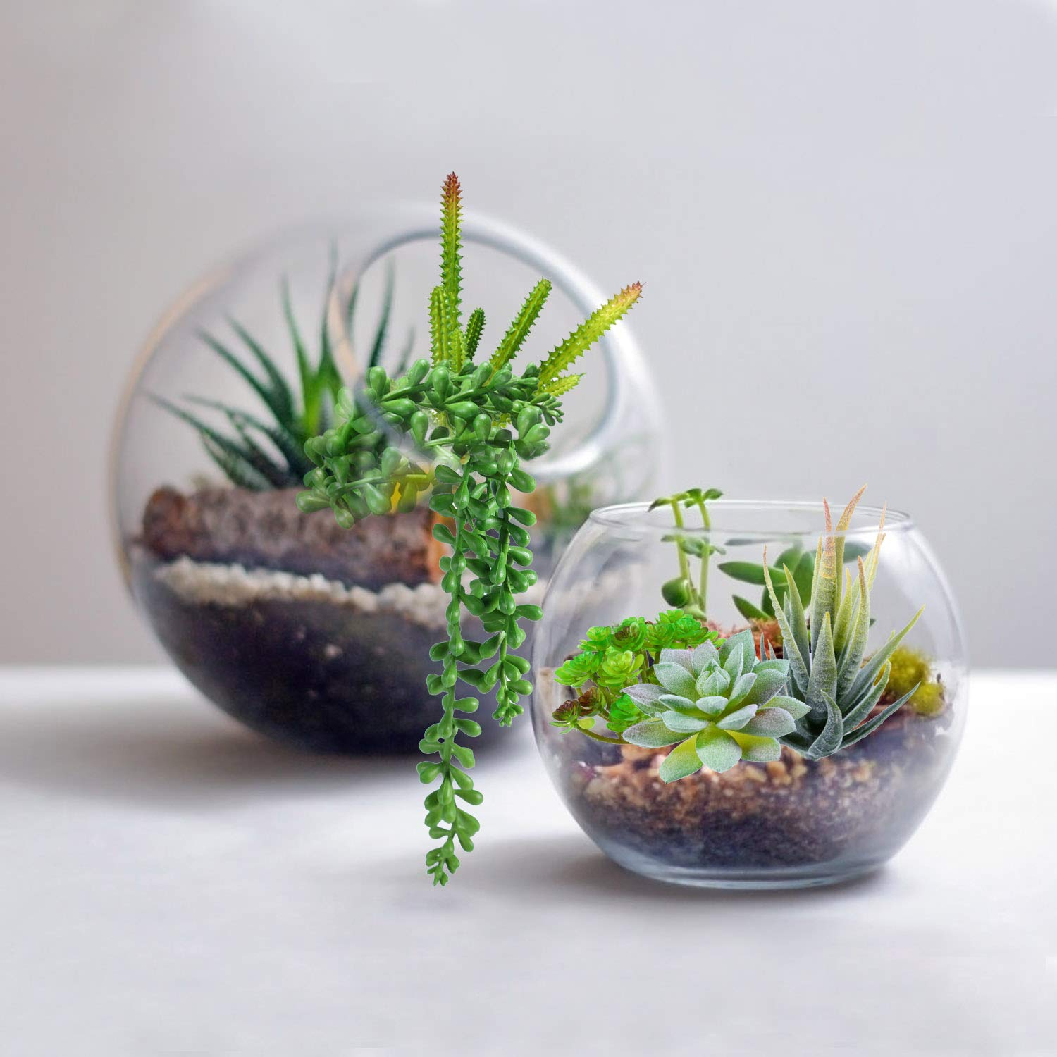 Beaspire Artificial Fake Succulent Plants 5 PCS Fake Plants Unpotted Faux Succulent Assorted for Indoor or Outdoor Decor, Office and Garden Arrangements Decoration