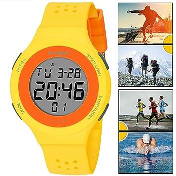 UxradG Reloj Inteligente, Niños, Adolescentes Electrónico Impermeable Deportes Digital Militar Deportes al Aire Libre
