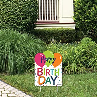product image for Big Dot of Happiness Cheerful Happy Birthday - Outdoor Lawn Sign - Colorful Birthday Party Yard Sign - 1 Piece