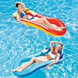 Cocity Hot Summer Inflatable Swimming Air Cushion Water Lounge Chair Single Floating Row Water Bed Water Cushion…