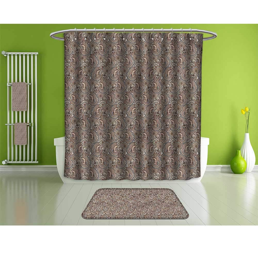 HoBeauty home Bathroom Suits &,Paisley,Classic Bohemian Design,Fashion Personality Customization adds Color to Your Bathroom.