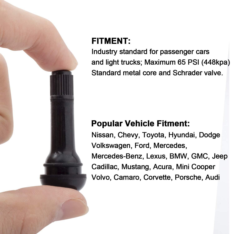 YAOPEI 10pcs TR414 Snap-in Rubber Tire Tyre Valve Stem 49mm Car Tubeless AutoValve