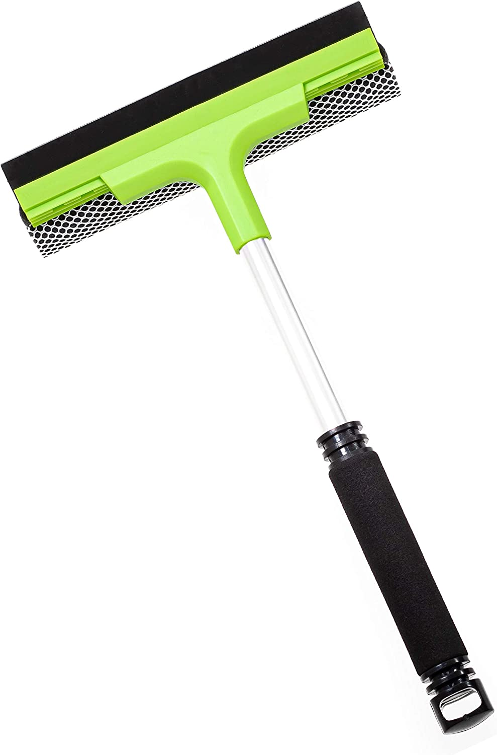 Window Cleaner Squeegee and Sponge Tool | for Window Washing, Car Windshield or Glass Cleaning | Multi-Surface Scrubber for Indoor Outdoor | Double Sided Windows Washer Kit