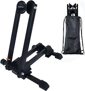 "Bike Folding Stand Floor Parking Rack Alloy Bicycle Holder Bikes Home Garage Indoor Storage Fit 20""-29"""