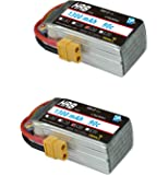 HRB 2Packs 1300mAh 90C 4S 14.8V High Power LiPo Battery Pack with XT60 Plug For Racing Drone Multirotors
