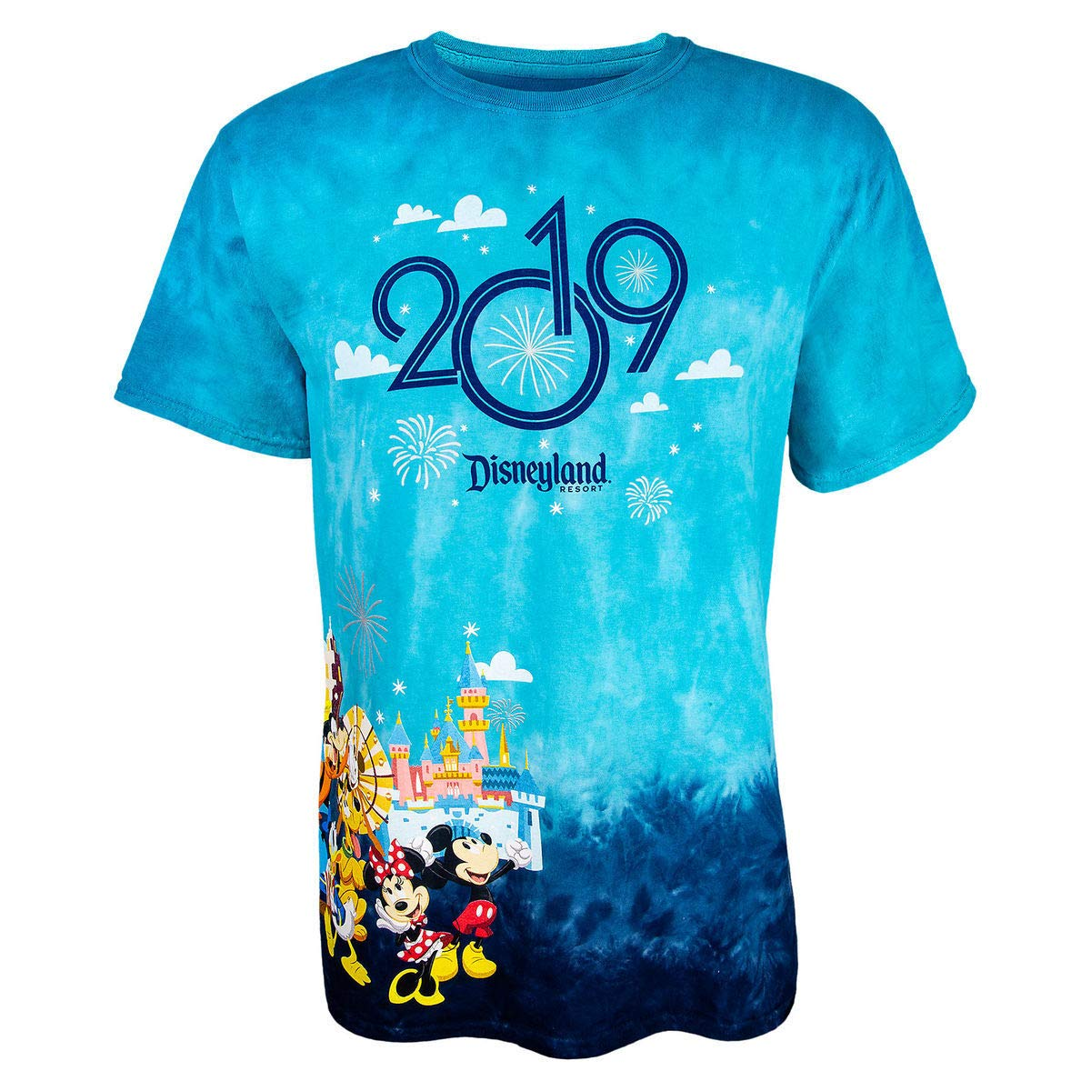 Disneyland Resort 2019 Mickey Mouse and Friends Tie-Dye T-Shirt for Adults