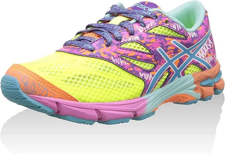 Asics Zapatillas Deportivas Gel-Noosa Tri 10 GS Amarillo/Turquesa/Rosa Flúor EU 37: Amazon.es: Zapatos y complementos