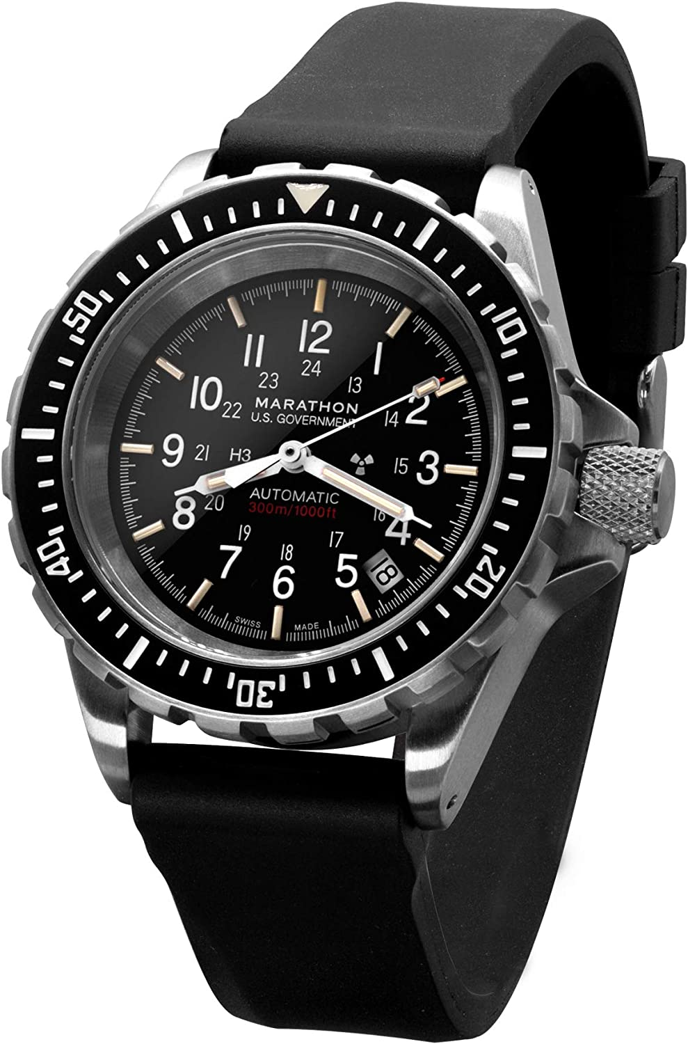MARATHON WW194006 GSAR Swiss Made Military Issue Diver's Automatic Watch with Tritium
