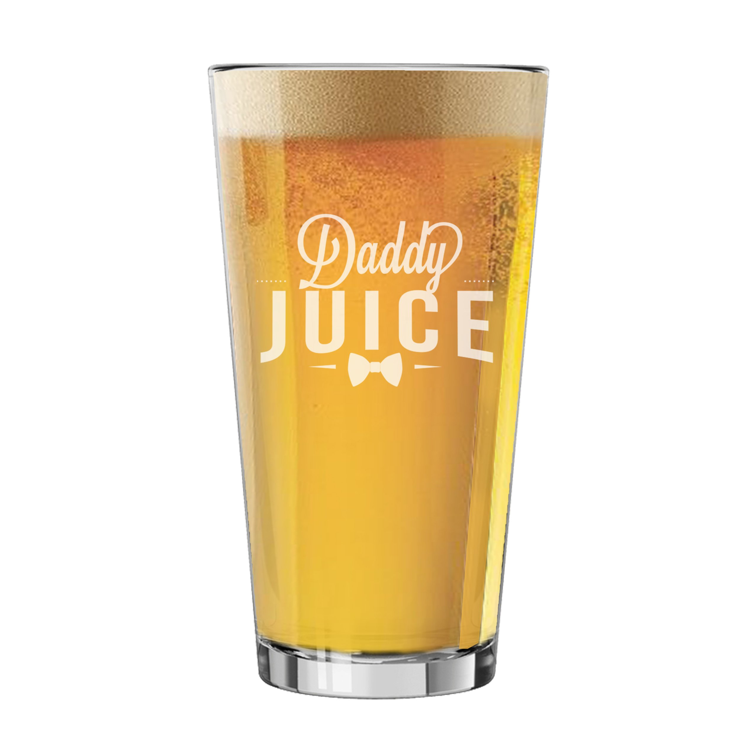 Funny Pint Glasses for Men - Fun Beer Lovers Gifts for Dad, Fathers Day, Him, Her, Birthdays (Juice Style)