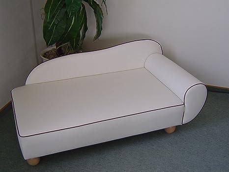 Perros sofá Sandy cama para perros perro Sofá piel sintética Perros sofá blanco/R