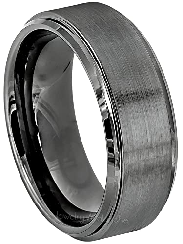 Mens Wedding Bands Tungsten.Jewelry Avalanche Brushed Gunmetal Tungsten Ring Men S Tungsten Wedding Band
