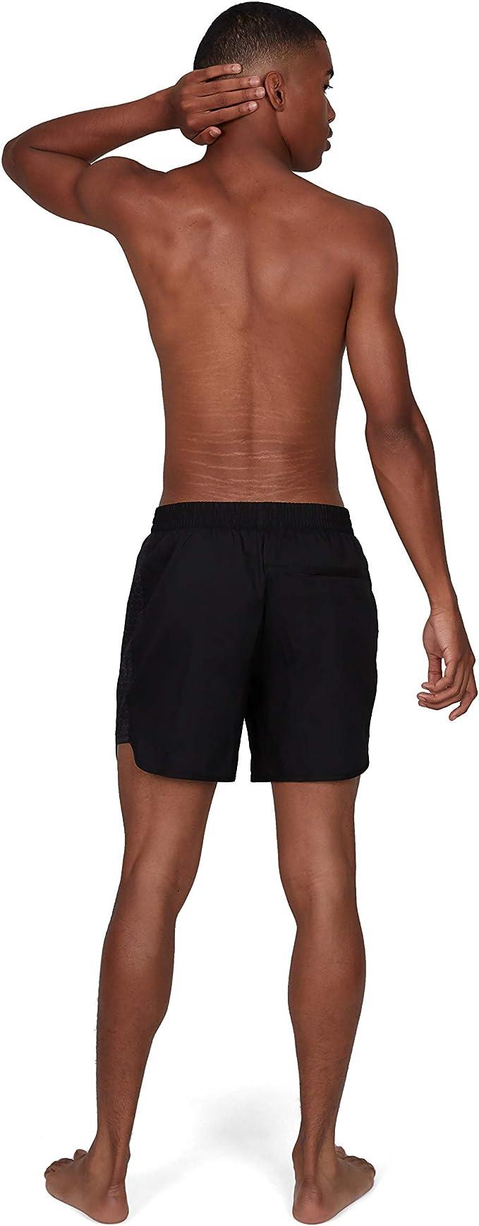 FR : L Noir USA Charcoal Taille Fabricant : L Speedo Short Multi-Sport 16 Bain Homme