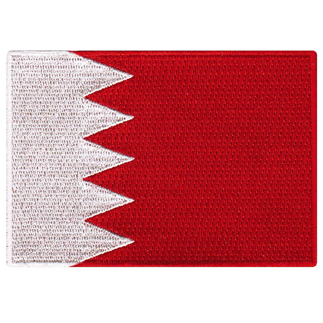 Bahrain Flag Embroidered Patch Bahraini Iron-On Arab National Emblem