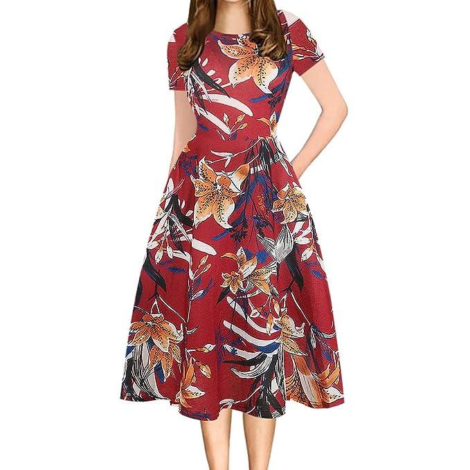 Vectry Vestidos De Fiesta Cortos Elegantes para Bodas Vestidos De Playa Mujer Vestidos para Mujer Vestidos Casuales Vestidos De Coctel para Bodas Vestido: ...