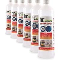 6 x 1 L bioéthanol à 96,6% dénaturé - FRAIS DE PORT OFFERT - qualité certifiée - bouteilles de 1 L