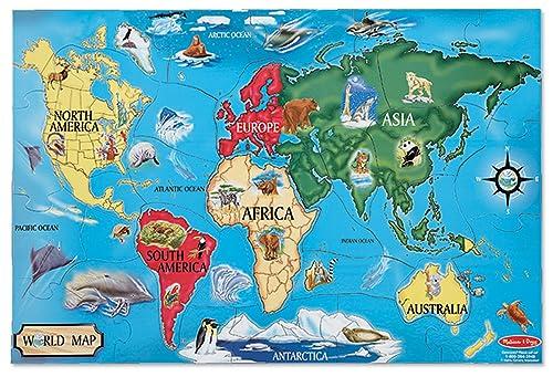 Wooden map of the world atlas jigsaw puzzle handmade in ireland melissa doug 10446 world map jumbo jigsaw floor puzzle 33 pcs 06 x gumiabroncs Gallery
