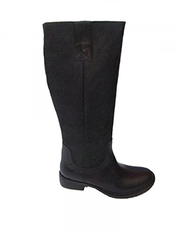 online store 3c354 ecd5b Buffalo Boots Stiefel Leder mit Fell Cow Crust 1000-30 black 01