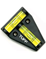 TUFF T Level; Shatterproof Cross Check Bubble Level 2 Way Multipurpose For RVs, Camping, Hobby, Milling, Lathe, Machines, Furniture, Trailers, Construction, Home, Tripods, Camera Equipment, Etc.