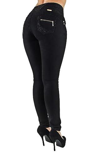 Amazon.com: Pantalones vaqueros para mujer con cintura ...