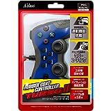 PS3/PSVitaTV用ラバーコートコントローラーターボ2 (ブルー×ブラック)