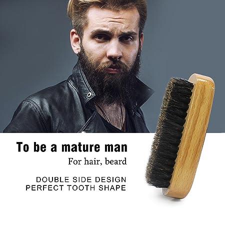 Kit de cuidado de la barba para el cuidado de los hombres,lavado con champú para barba, aceite para barba,cepillo de barba de cerdas de jabalí, ...