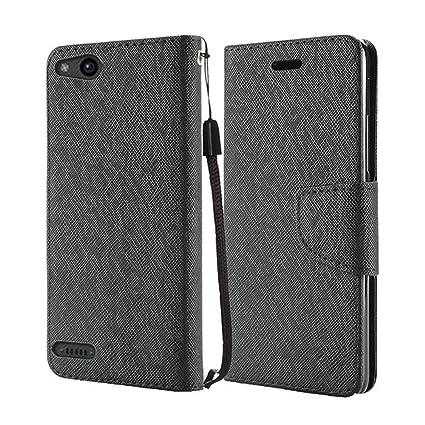 Amazon.com: ZTE zfive G LTE z557bl – portafolios de piel ...
