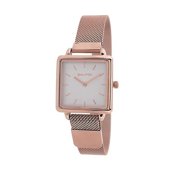 Reloj Bilyfer para Mujer con Correa Rosada y Pantalla en Blanco 3P567C-R: Amazon.es: Relojes