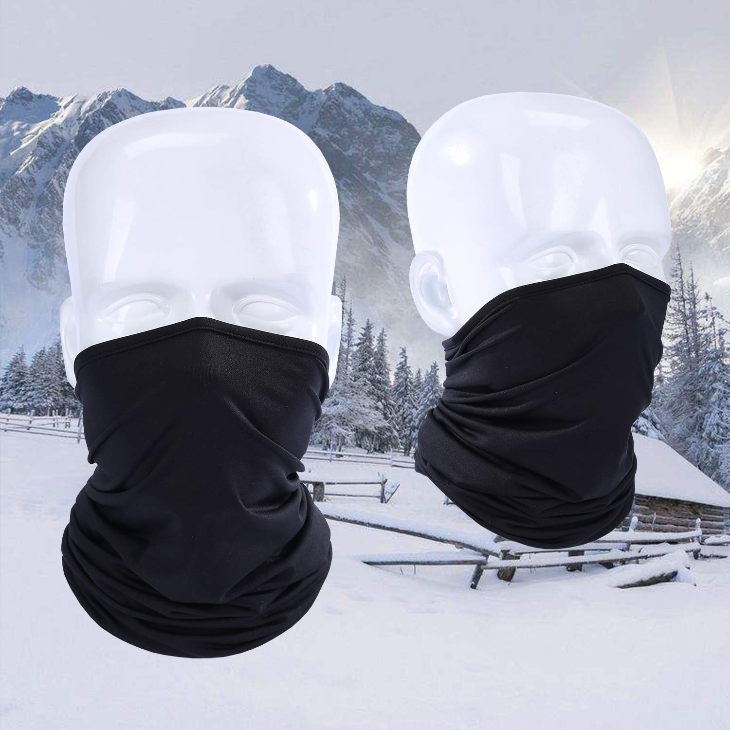 Lightweight and Breathable 2 Pack or 2 Pack Cycling Motorcycling Running Skateboarding Any Outdoor Sports LUVNFUN Neck Gaiter for Men Women Half Face Mask for Dust