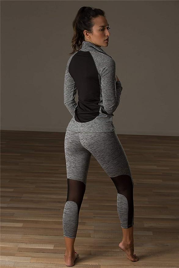 Zueauns Damen Sweatshirt Langarm Laufshirt 1//4 Rei/ßverschluss Fitness T-Shirt Laufjacke Running Tops