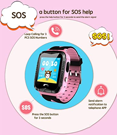 Amazon.com: GPS Tracker niños reloj inteligente antipérdida ...