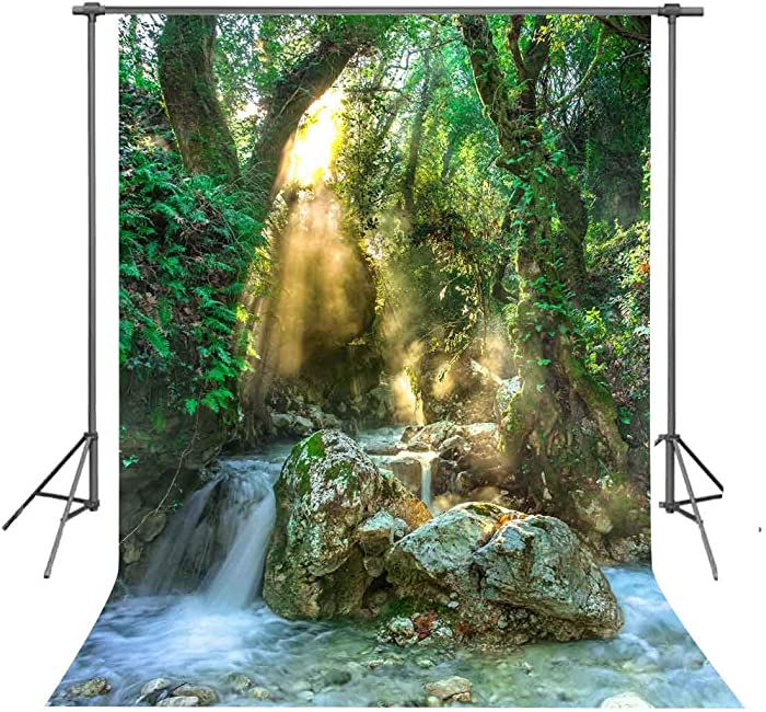 FUERMOR Nature Forest Backdrop 5x7ft Beautiful Scenery Photography Background Photo Props Room Mural GEFU933