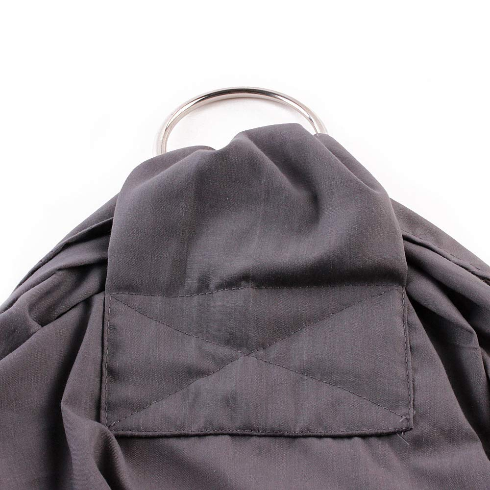 Baby Sling Ring,Soft Cotton Carrier Wrap for Infants and Toddlers Lightly Padded Adjustable Nursing Cover