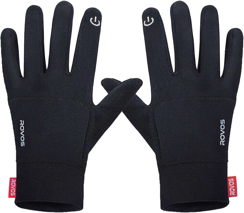 ROVOS Lightweight Touchscreen Winter Glove for Running Drive Bike Unisex