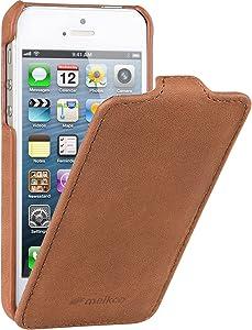 Melkco - Leather Case for Apple iPhone 5/5S - Jacka Type (Vintage Brown) - APIPO5LCJT1BNCV