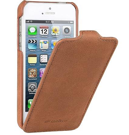 Amazon.com: Melkco – Funda de piel para Apple iPhone 5/5S ...