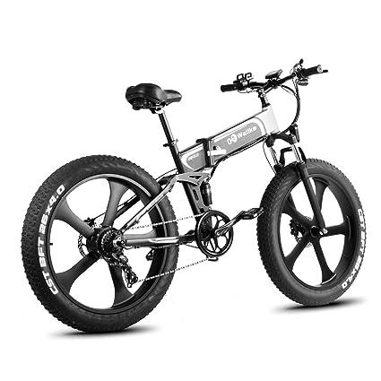 Amazon.com: WALLKE - Bicicleta eléctrica plegable de ...