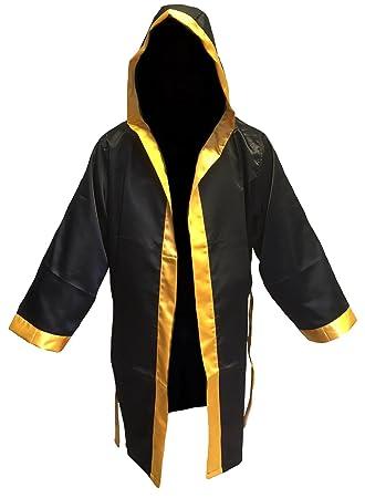 El boxeo abrigo negro oro tamaño sénior: Amazon.es: Deportes y aire libre