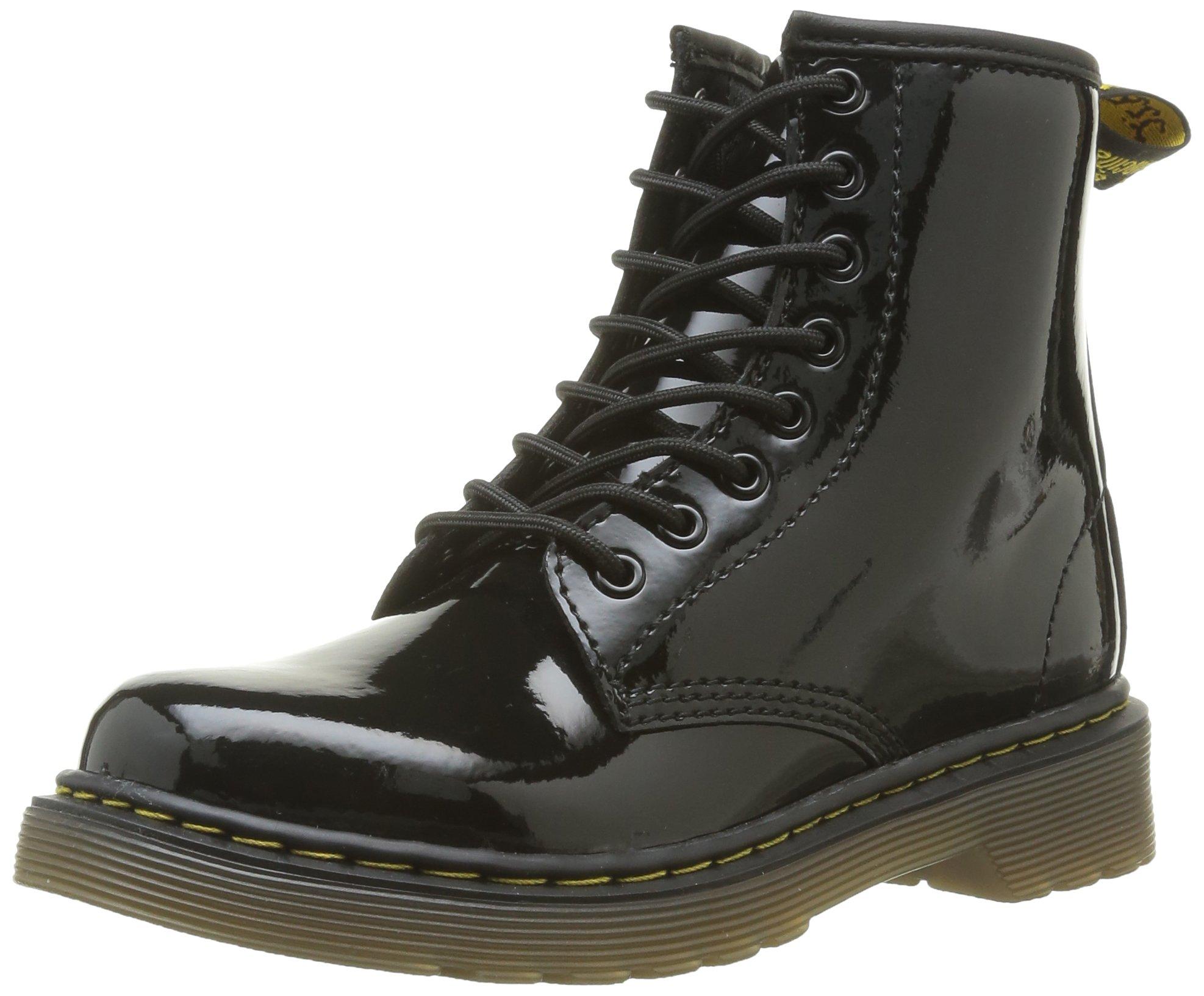 Dr Martens Kleinkinds Delaney Patent Boots - US 4.5
