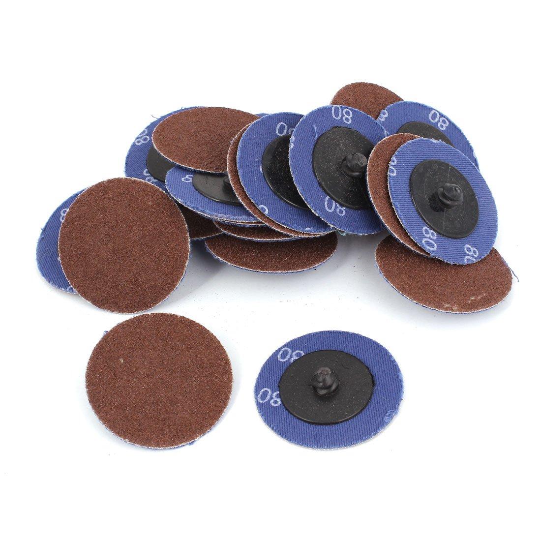sourcing map Ponceuse 50mm 2' Dia n° 80 disques polissage ponçage verre grain roue 40pcs a14121000ux0531