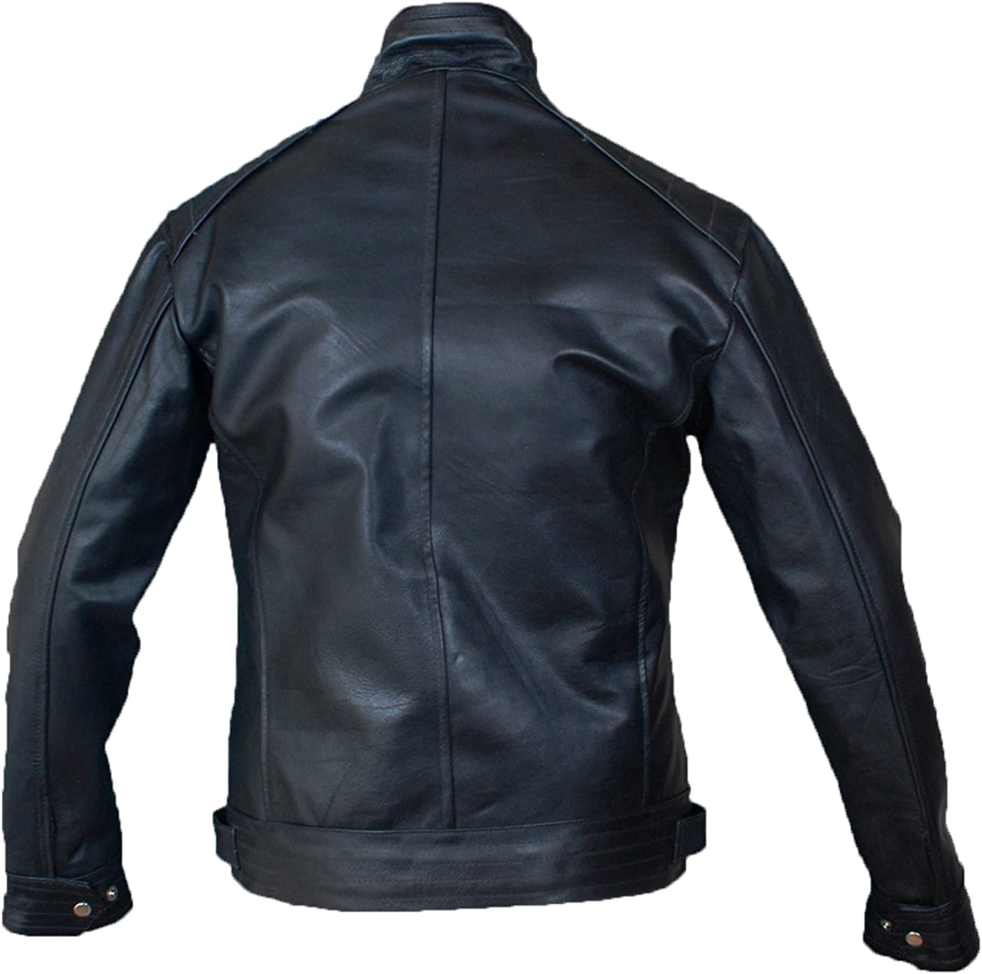 New Genuine Cow Leather Designer Jacket Motorcycle Biker Mens S M L XL LFC991