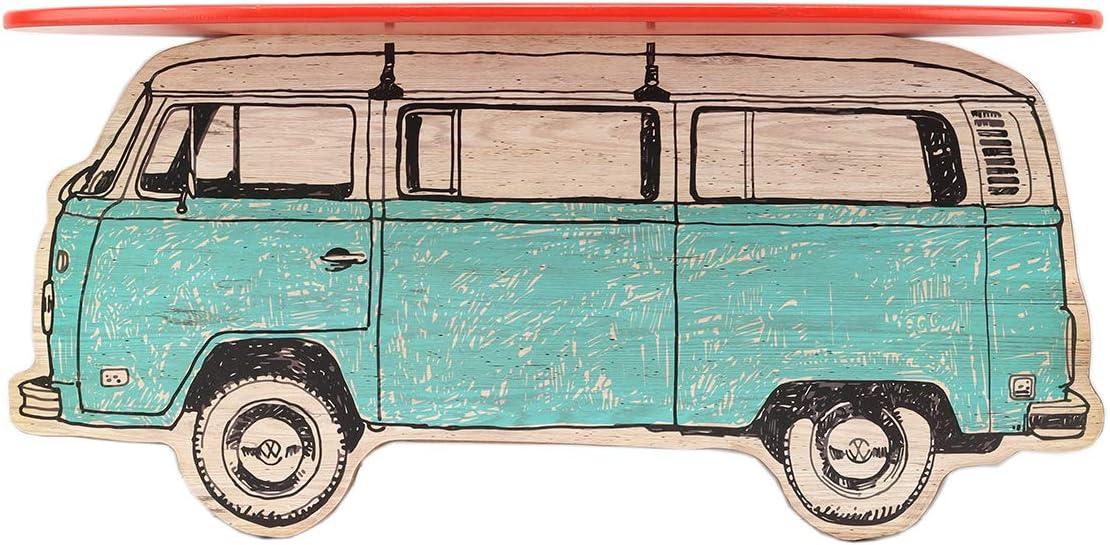 Open Road Brands Volkswagen & Surfboard Wood Wall Shelf