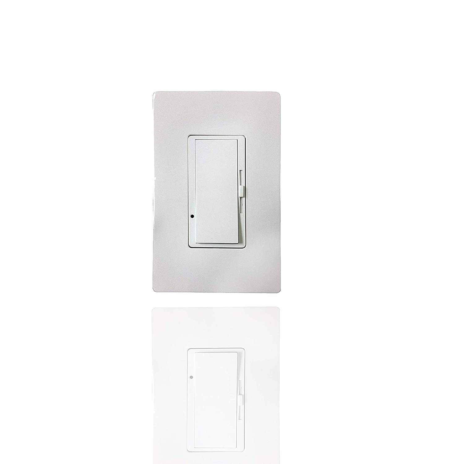 Single Pole Slide, Dimmer Switch, 3-Way 600W, Screwless Wall Plate, LED And Incandecent (No Plate Included) 24 pack - - Amazon.com