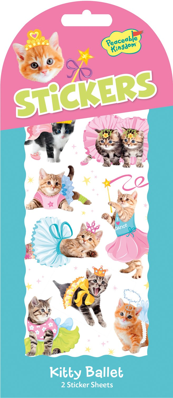 Peaceable Kingdom Kitty Ballet Sticker Pack Mindware