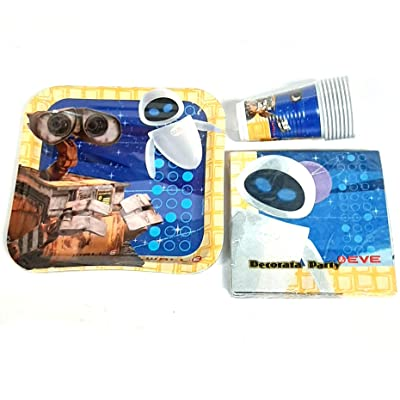Wall-E Party Pack for 16 Guests - Disney Pixar Party Tableware Plates Cups etc: Health & Personal Care